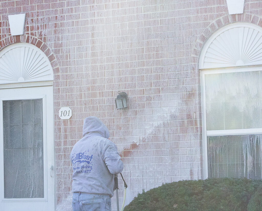 Apartment pressure washing after