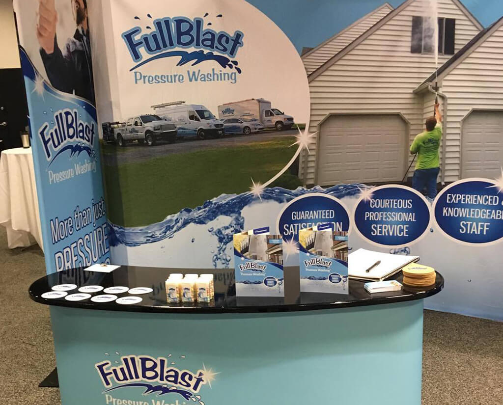 Full Blast Pressure Washing tradeshow booth