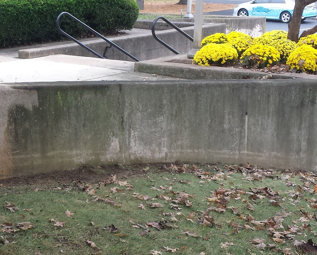 Concrete barrier before
