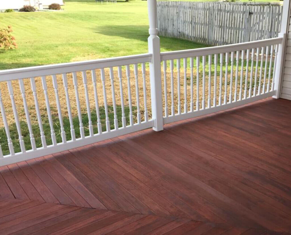 Deck pressure washing after