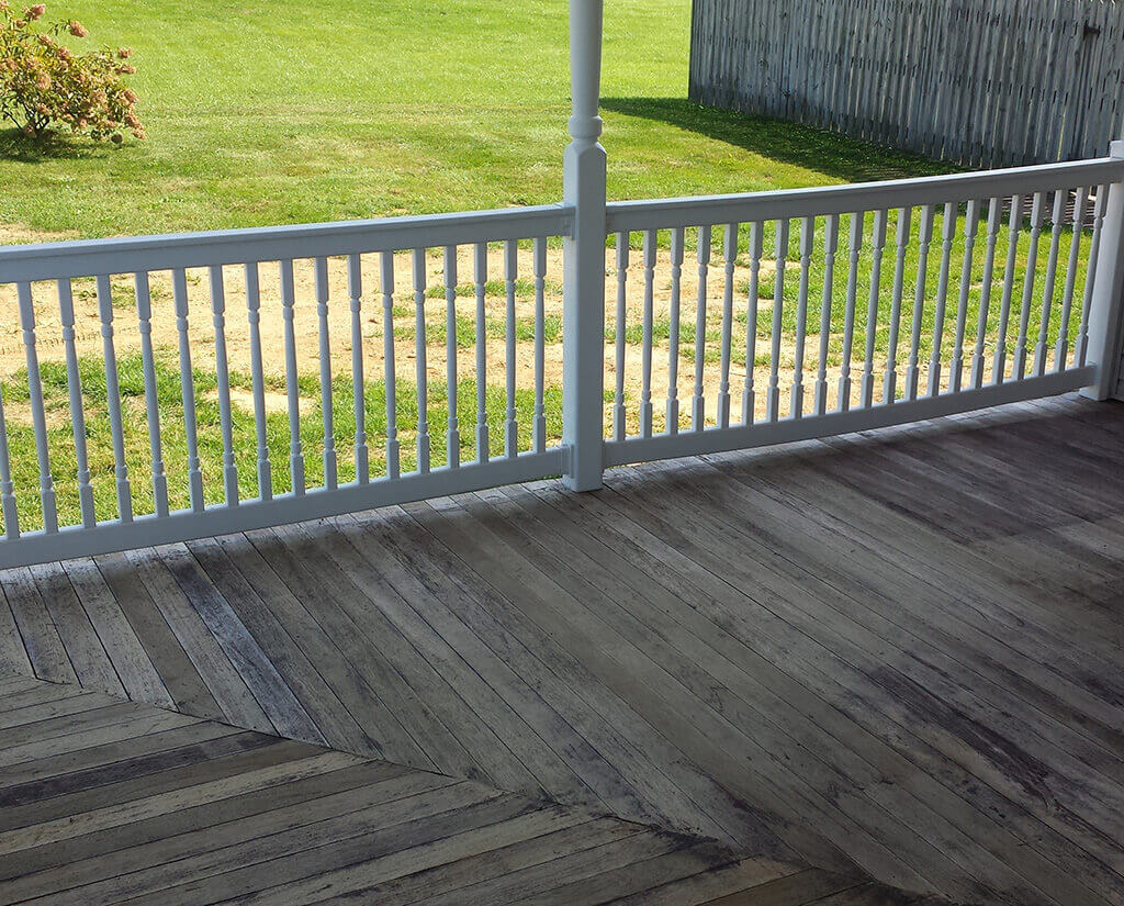 Deck pressure washing before